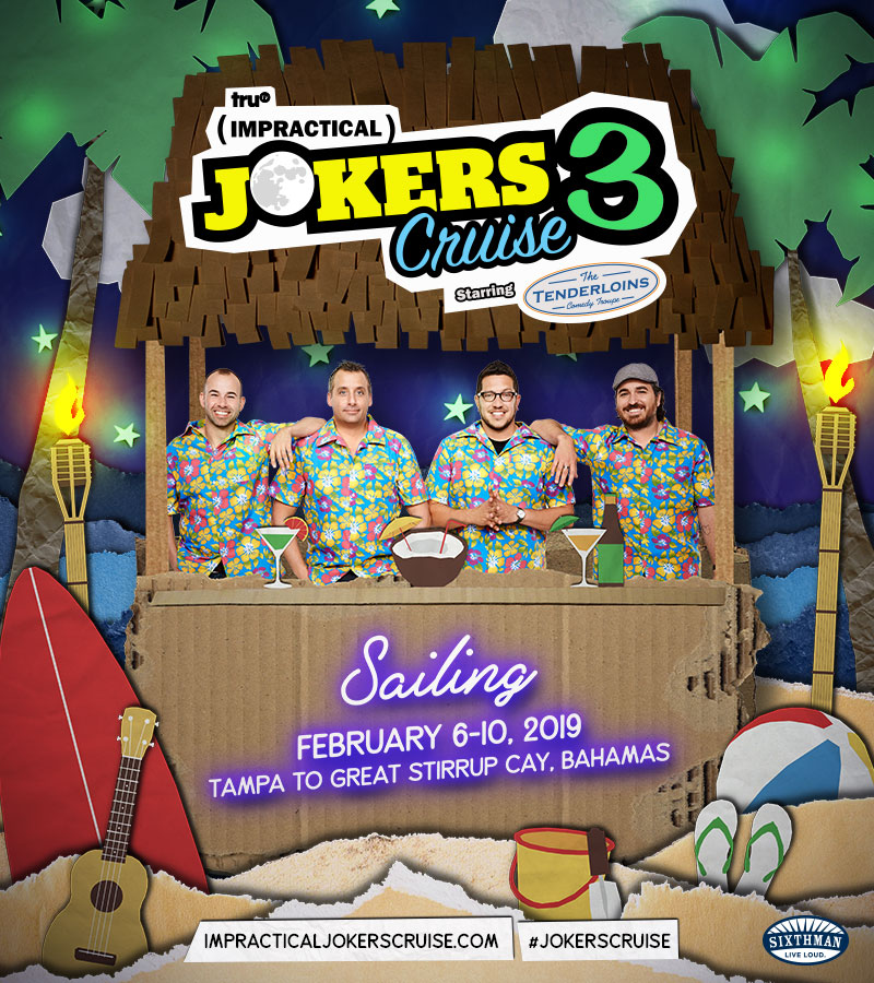 Impractical Jokers Cruise 2020.Past Lineups Impractical Jokers Cruise